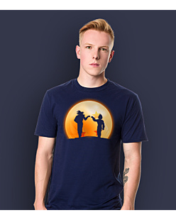 Dragon ball - Goku & vegeta T-shirt męski Granatowy L