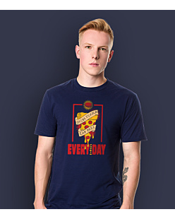 Drink pizza Eat beer T-shirt męski Granatowy XL