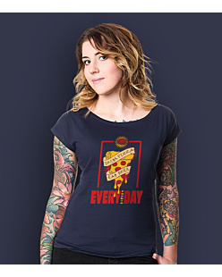 Drink pizza Eat beer T-shirt damski Granatowy XXL