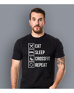Eat Sleep Crossfit Men T-shirt męski Czarny S