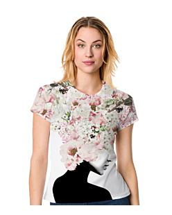 Flower Head - Damskie T-shirt Damski FullPrint S