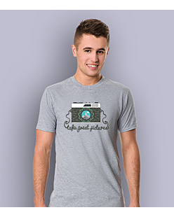 Take Great Pictures Foto3 T-shirt męski Jasny melanż S