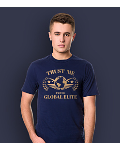 Global Elite T-shirt męski Granatowy S
