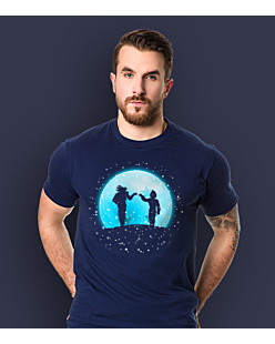 Dragon Ball - Goku and Vegeta Winter Edition T-shirt męski Granatowy XXL