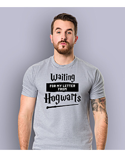 Waiting for my letter from Hogwarts T-shirt męski Jasny melanż S