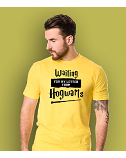 Waiting for my letter from Hogwarts T-shirt męski Żółty XXL