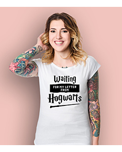 Waiting for my letter from Hogwarts T-shirt damski Biały XS