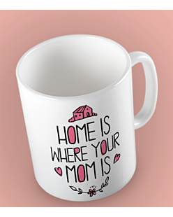 Home is where Your Mom Is Kubek Biały Universal