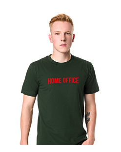 Home Office T-shirt męski Ciemnozielony S