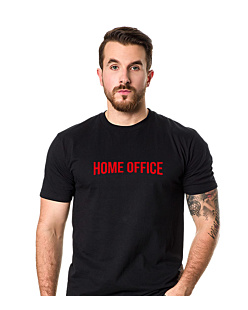 Home Office T-shirt męski Czarny S