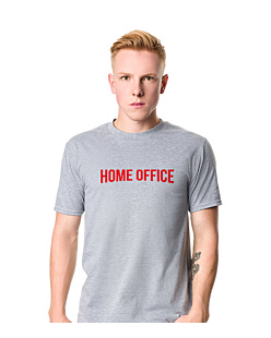 Home Office T-shirt męski Jasny melanż S