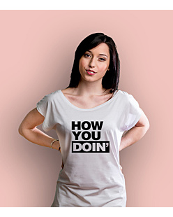 How You Doin KSZ T-shirt damski Biały XS