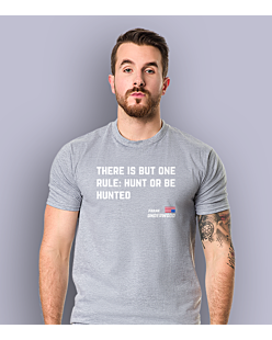 Hunt or be hunted T-shirt męski Jasny melanż S