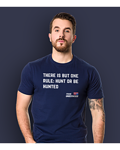 Hunt or be hunted T-shirt męski Granatowy S