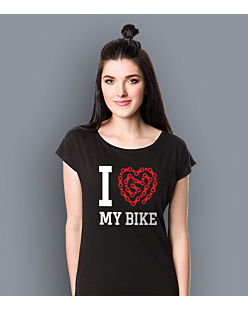 I love my bike KSZ T-shirt damski Czarny XS