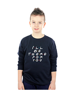 FRIENDS-I WILL BE THERE FOR YOU Bluza sweatshirt dziecięca Granat 168