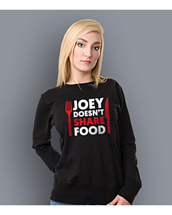 FRIENDS - JOEY DOESN'T SHARE FOOD Bluza prosta damska Czarna XXL
