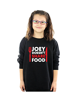 FRIENDS - JOEY DOESN'T SHARE FOOD Bluza sweatshirt dziecięca Czarny 122