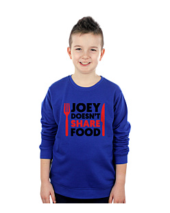 FRIENDS - JOEY DOESN'T SHARE FOOD Bluza sweatshirt dziecięca Niebieski 168