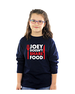 FRIENDS - JOEY DOESN'T SHARE FOOD T-shirt Dziecięcy Długi Rękaw Granat 12-14
