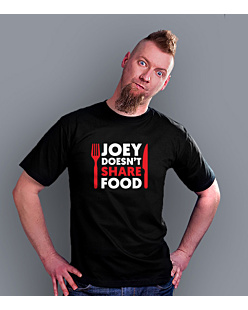 Joey Doesn't Share Food T-shirt męski Czarny L