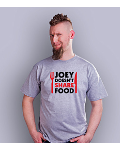 Joey Doesn't Share Food T-shirt męski Jasny melanż L