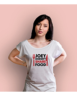 Joey Doesn't Share Food T-shirt damski Biały XS