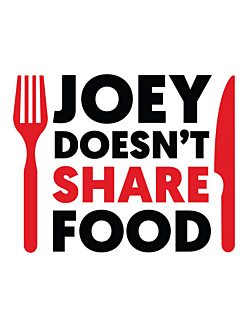 FRIENDS - JOEY DOESN'T SHARE FOOD T-shirt męski Czerwony S
