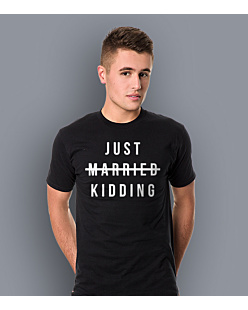 Just Married - Kidding T-shirt męski Czarny S