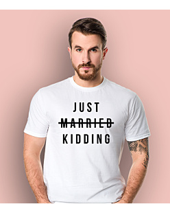 Just Married - Kidding T-shirt męski Biały S