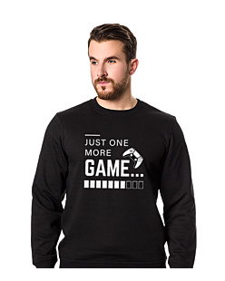 Just One More Game Bluza prosta męska Czarna XXL