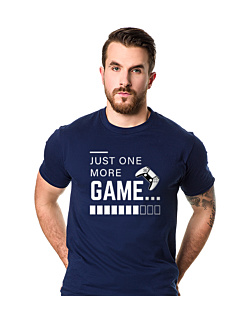 Just One More Game T-shirt męski Granatowy XXL