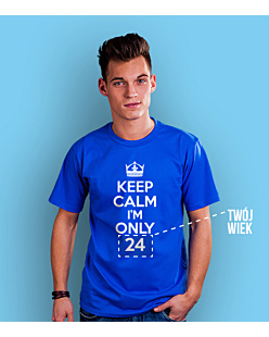 Keep Calm I'm Only T-shirt męski Niebieski XXL