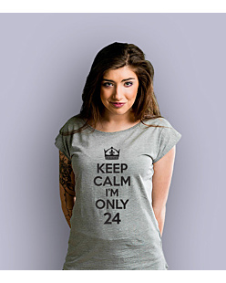 Keep Calm I'm Only T-shirt damski Jasny melanż XS