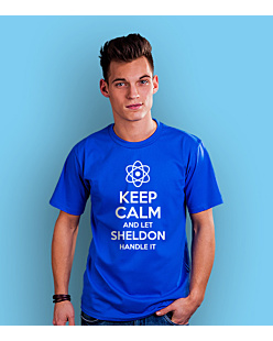 KC let sheldon hadle it T-shirt męski Niebieski S