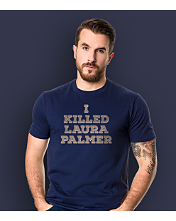 I killed Laura Palmer Twin Peaks T-shirt męski Granatowy S
