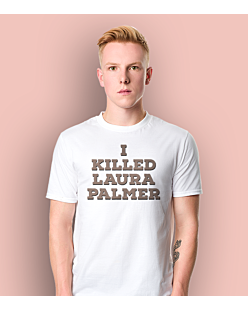 I killed Laura Palmer Twin Peaks T-shirt męski Biały S