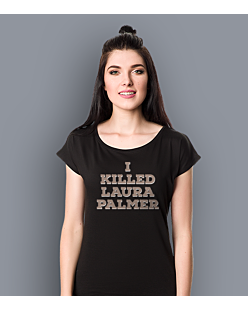 I killed Laura Palmer Twin Peaks T-shirt damski Czarny XS