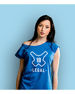Legal 18 T-shirt damski Niebieski XS