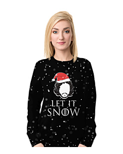 Let it snow gra o tron Fullprint Bluza Fullprint Damska S