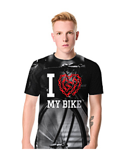 Love My Bike Fullprint T-shirt męski FullPrint S