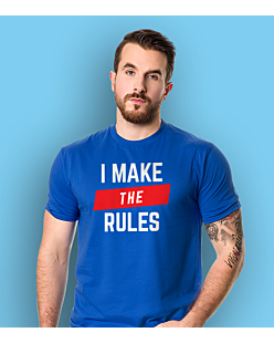 I make the Rules T-shirt męski Niebieski S