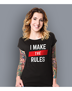 I make the Rules T-shirt damski Czarny XS