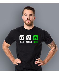 Man Woman Geek - Gender T-shirt męski Czarny S