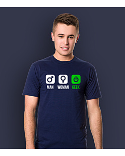Man Woman Geek - Gender T-shirt męski Granatowy S