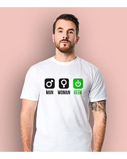 Man Woman Geek - Gender T-shirt męski Biały S