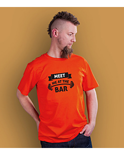 Meet me at the bar T-shirt męski Pomarańczowy XXL