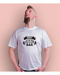 Meet me at the bar T-shirt męski Biały S