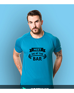 Meet me at the bar T-shirt sportowy męski Niebieski XL