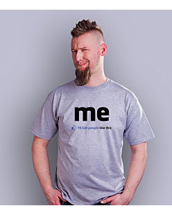 Me – 19,526 people like this T-shirt męski Jasny melanż S